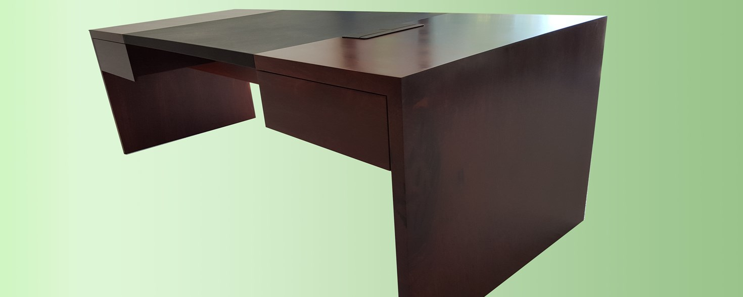 Jarrah desk with leather insert