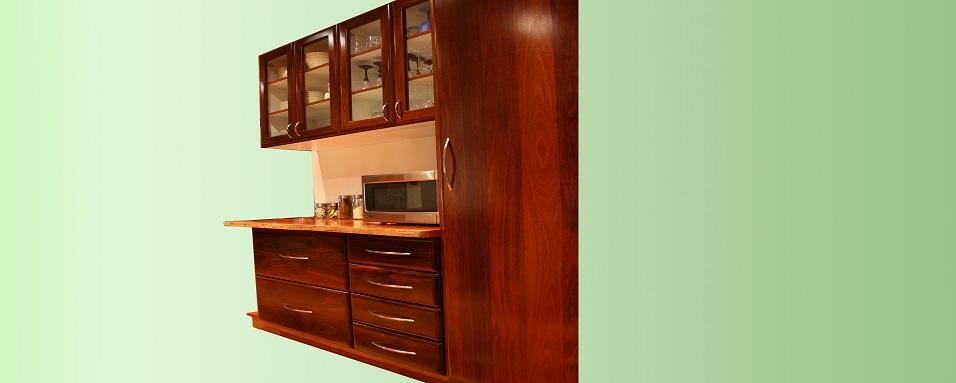 Jarrah kitchen cabinets