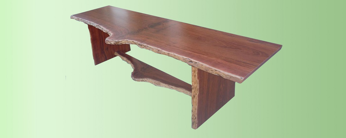 Jarrah natural edge offide desk