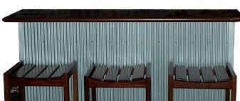 Jarrah bar top and stools