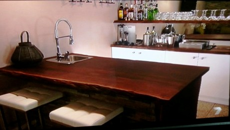 Jarrah bench tops and shelves made for 'House Rule'