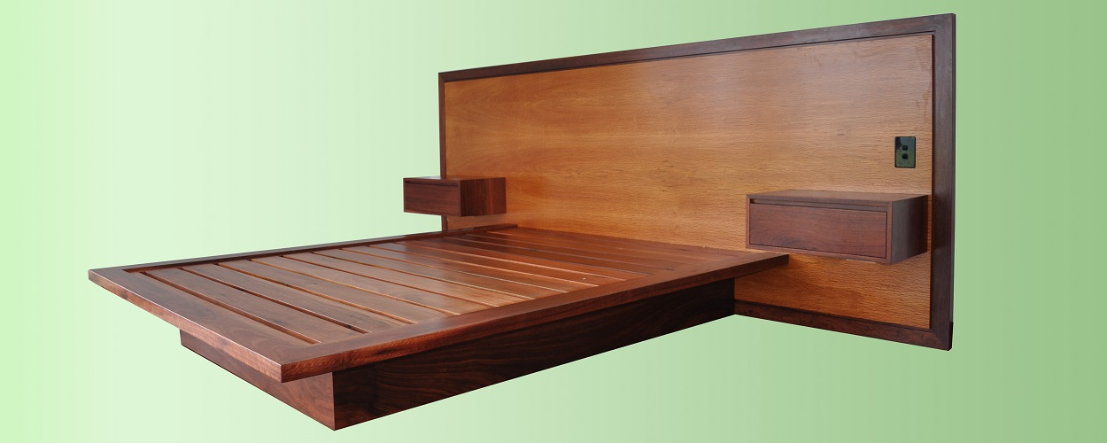 Jarrah bed with sheoak head