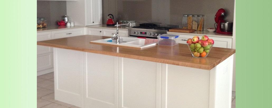 Marri island kitchen bench top