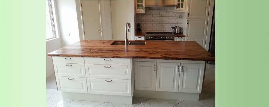 Marri island kitchen bench top