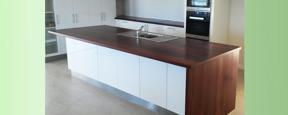 Jarrah kitchen bench tops