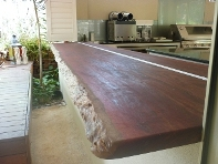 Jarrah bench top to alfresco area