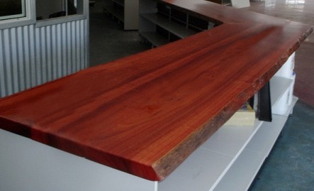 Jarrah counter top in mower store
