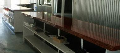 Jarrah counter top in mower store