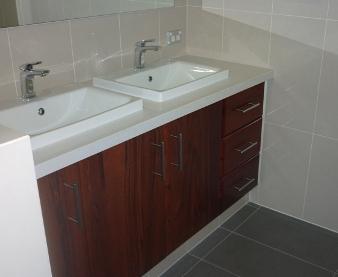 Jarrah bathroom cabinet