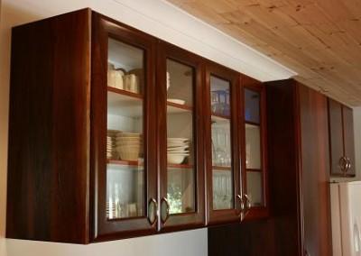 Jarrah overhead cabinets