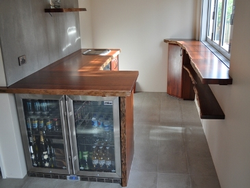 Jarrah cabinets and bench tops for a pool house