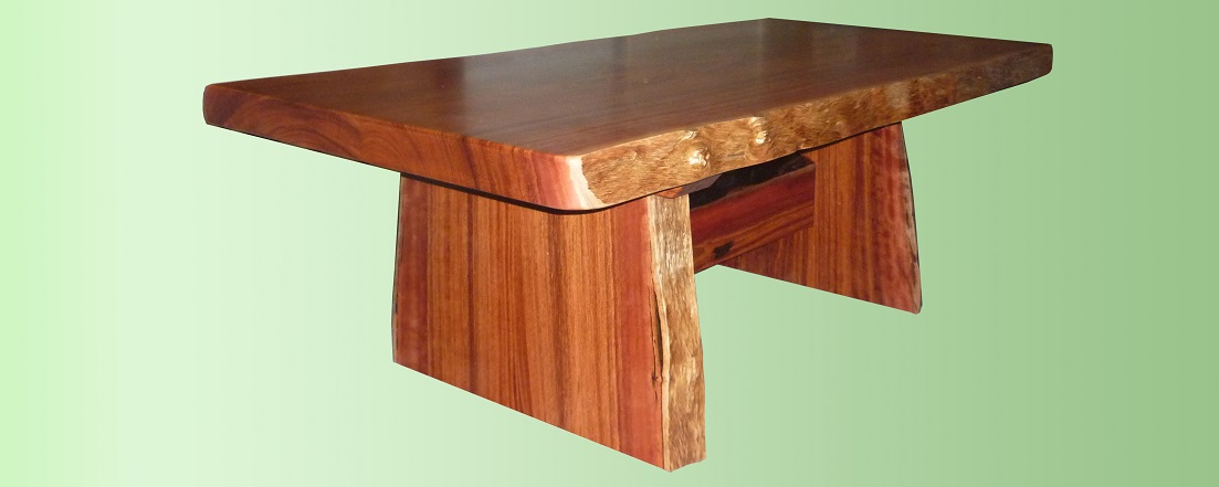 Jarrah coffee table with natural edges - Kurrajong