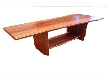 Jarrah coffee table with natural edges