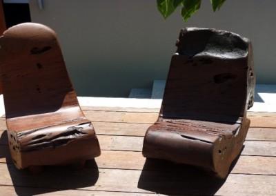Burl chairs