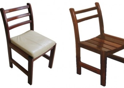 Jarrah dining chairs - Brookton