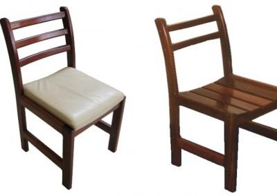 Jarrah dining chairs - Brookton