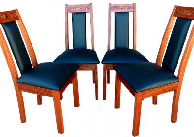 Red tingle chairs