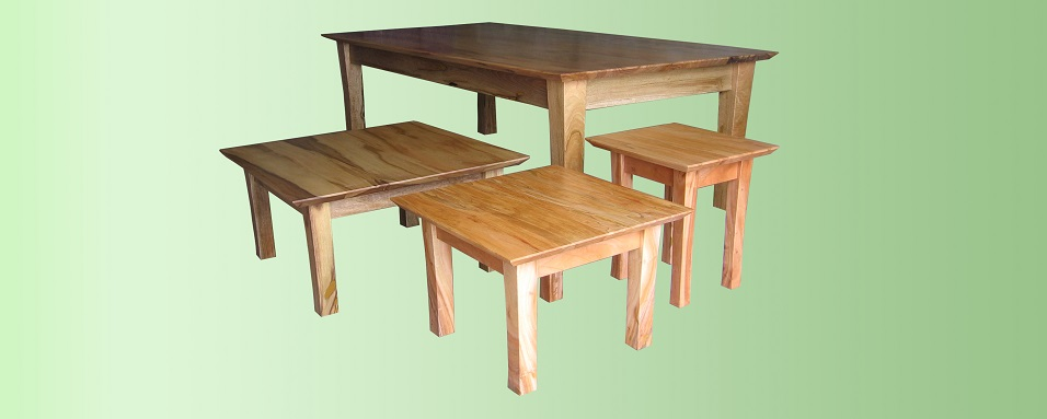 Marri dining and coffee tables - Karragullen