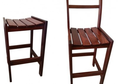 Jarrah dining stools