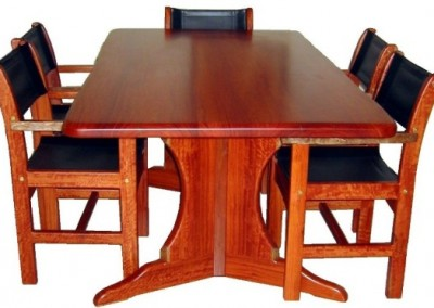 Jarrah dining table and chairs - Churchman