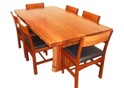 Jarrah dining table and chairs - Kurrajong