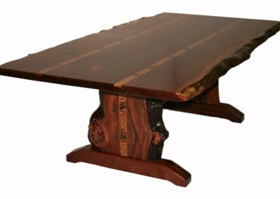 Jarrah dining table with light inlays - Croyden
