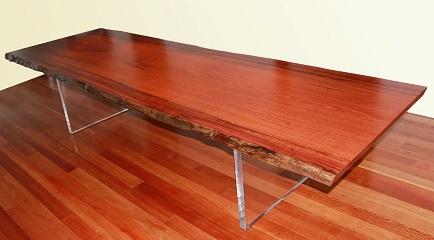 Single slab jarrah dining table - manufactured for Jarrahdale Furniture