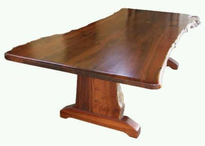 Jarrah dining table with natural edges - Croyden