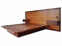 Jarrah bed with sheoak bed head