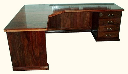 Jarrah L-shaped desk