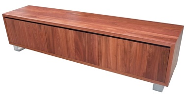 Jarrah entertainment unit with metal legs