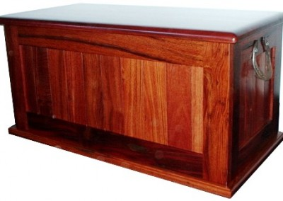 Jarrah blanket box