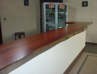Jarrah bar top in restaurant