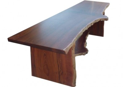 Jarrah office desk with natural edges