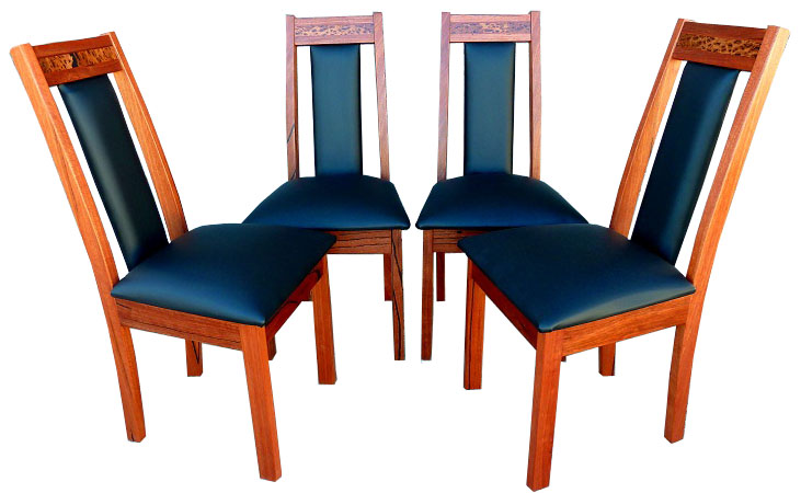 Red tingle dining chairs - For sale