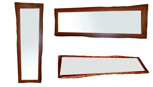 Natural edge jarrah frames for mirrors or pictures - For sale