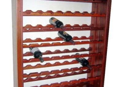 Jarrah wine rack - Churchman