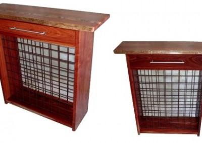 Wine racks, one with inlay - Kurrajong